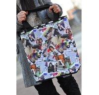 New arrivals Hot sale free shipping large capacity bag Foldable shoulder bag folding version of Michael Jackson