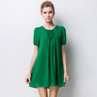 brand new summer antumn fashion dresses original single plus size women's high-end temperament full color casual dress 2XL-4XL