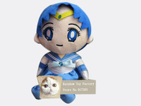 Japanese anime 30 cm plush doll toy Sailor Moon Plush Toys Sailor Mercury doll toy for Gifts Free shipping