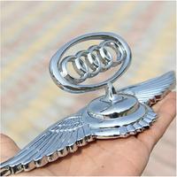 Eagle wing emblems for Audi Logo Luxury 3D stereo car Badge Angel wing Sticker Zinc Alloy car beacon for Audi Q3/Q4/Q5/Q6 etc