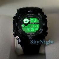 Black OHSEN Sport's Mens Boy Cool Digital Time AL Date 7 color light  Dive Smart Swim 5AM Sport Wrist Watch Watches Gift 2810-1