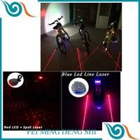 bike light 5LED+2Laser hot factory Cycling Safety Bicycle Rear Lamp Bike Laser Tail Light Bicicleta 7 model led flashlight