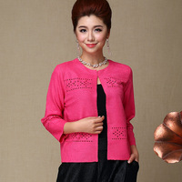 2014 linen silk pleated short design small cape cardigan top fashion mother clothing spring and summer thin