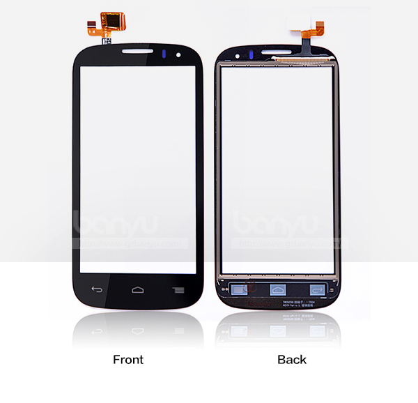 (Sale by 1 piece) Operated smoothly black lcd digitizer for alcatel ot5036 5036 touch screen(China (Mainland))