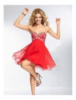 Sexy A-line Sweetheart Off the Shoulder Appliques Sleeveless Above Knee Length Mini Cocktail Dresses Prom 2014