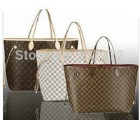 (11.11)specials Free shipping ladies brown letter tote bag louis Handbag N51106,m40157 shoulder bag GM/MM louis 40cm tote bag