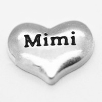 20pcs/lot Free Shipping Diy Wholesale Siver Mimi Heart Floating Charm For Origami Owl Memory Living Locket