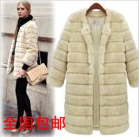 Jacket clothes imitation fur coat fur overcoat collarless jacket Plush shearing