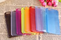 300pcs/lot New Arrival 0.3mm Ultra Thin Case  Slim Matte Transparent Plastic Cover Case for iphone 6 Plus 5.5inch
