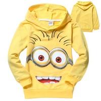 New 2014 despicable me 2 minion boys t shirt girls nova t-shirts kids children t shirts child Spring hoodies Tops & Tees