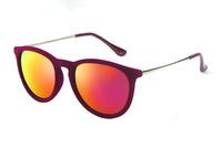 2015 Sunglasses Women Brand Designer Sun Glasses Erika Velvet Frame Gafas De Sol Women Vintage Oculos De Sol Feminino 4171