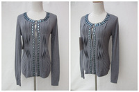 NEW! Fashionable Women Winter  Knitted Cardigan Sweater with Beading