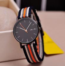 Bravemn Simple Nylon Stripe Quartz Watch Men Wristwatches Fashion Men Jewelry Bijoux Relogios 2014