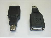 High quality USB Female to Mini USB Male 5 Pin OTG Adapter Converter