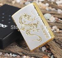 new Style Top! hot Sales lighter men's accessory birthday gift gold ice Dragon Lighter,brand lighter,cigarette lighter zipp