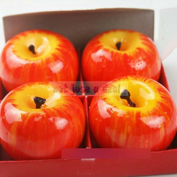 4 шт. рождество красное яблоко форма фрукты ароматические ...