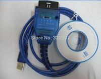 KKL USB Cable Interface VAG COM 409 + Fiat Ecu Scan diagnostic interface tool vag 409 Free Shipping