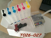 Free shipping CISS T026 T027 CISS ink system For Epson Stylus Photo 810 820 830 925 935    6Color   with chip