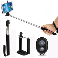 Selfie Stick Handheld Monopod + Bluetooth Shutter Remote Control for Smartphones