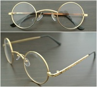 45mm Vintage Retro Round Eyeglass Frame Gold Silver Retro Glasses Spectacles Optical Eyewear
