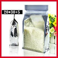 Free Shipping 50pcs/lot 20cm*30cm+5cm*200mic High Quality Plastic Retail Packaging Zip Lock Bag Plastic Snack Bags Wholesaler