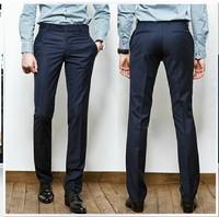 Men's Casual Slim Business Straight Solid Pants Dress Suit Trousers M-XXL