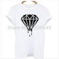 New style Diamond shirt men's O-neck Diamond t shirt shirts men clothes hip hop shirt FREE SHIPPING