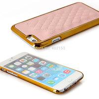 New 4.7Inch Diamond Lattice Square Metallic silver case Cover For Apple Iphone6#230400