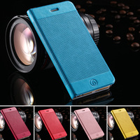 5pcs/lot!  Luxury Colorful Grid Pattern Flip Case For iphone 6 4.7inch Wallet Stand Insert Card Slot Phone Cover RCD04396