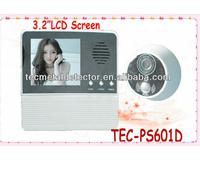 free shipping !! Digital peephole door viewer TEC601D-2AH , wide angle video peephole , video peephole camera