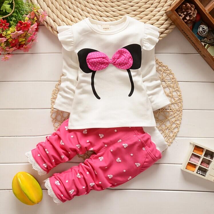 2014 0-1 - 2 - 3 child set baby clothes little girls sets autumn children's clothing female child autumn(China (Mainland))