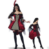 Queen Damned Party Costumes Fairy Tale Demons Cartridge Women Witch Halloween And Party Costumes Lolita Dress AN228