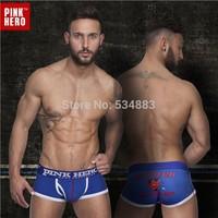 20 pcs/lot Wholesale PINKHERO Men's Boxer Shorts cotton men panties sexy male underwear high quality calecon homme
