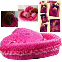 Lovely Soft Pet Dog Puppy Cat Warm Bed House Plush Cozy Pets Nest Mat Pad Mat