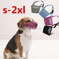 Dog Soft Mesh Adjustable Pet Muzzle Control Barking Various Sizes 3 Colours Treedy Free Shipping 1pcs/lot