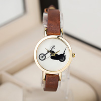 Fashion watches with Motorcycles inside watches New Genuine leather watch Woman's women wristwatches -JY09