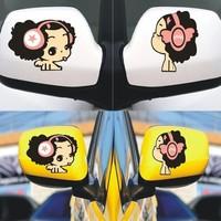 car styling girl car Sticker 3D enubb girl cartoon Car Body Sticker For  Decal Metal Stylish Style pink