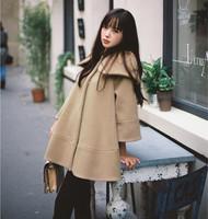 2014 Autumn Winter Women Cloak Coat Fashion Long Coat Plus Size Wool Overcoat Free Shipping c1329