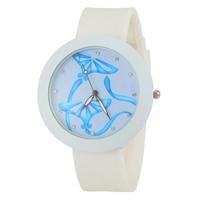 2015 Christmas gifts Women's Watch Rhinestone Watches Fashion Watch Round Analog Watch with Silicone Strap -5
