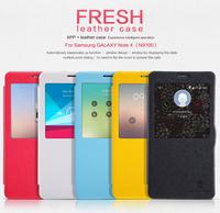 Free Ship Original Nillkin Fresh Series PU Leather Case for Samsung GALAXY Note 4 / N9100 retail box