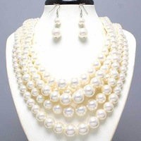BD101 Free shipping fashion harness statement body pearls necklace jewelry