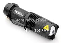 CREE Q5 lamp 300LM cree led Torch Zoomable waterproof LED Flashlight 18650 free shiping 4pcs/lot