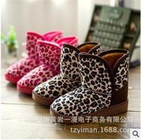 Free shipping Children's Boots Winter Boy Girls Warm Winter Flat Snow Boots Red Brown Beige 2014 Fashion Warm Shoes 701