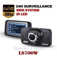 Free shipping SIV LS700W the newest Full HD 1080P 170 degree view angle Novatek chip set 96650 car dvr