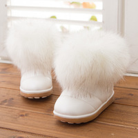 2014 new  Children's shoes  girls winter snow boots fur boots  size 26-30
