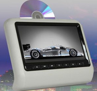 9inch digital TFT LCD Screen Clip on Headrest DVD with IR FM Transmitter built-in Game USB SD