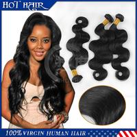 "6A grade 8""-30"" Malaysian virgin hair body wave human hair 3pcs/lot 100% unprocessed virgin Malaysian body wave hair extension"