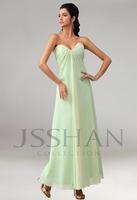 In 2014 the latest fashion chiffon pleated skirts sleeveless wedding bridesmaid Dresses Size  2 4 6 8 10 12 14 16