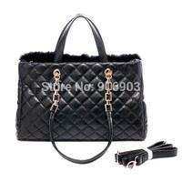 Women Elegant Horse Hair Fur Tote,Handbags,Fashion Winter Tassel PU Leather Purse,Brand Cross Body Messenger Shoulder Bags,SJ077