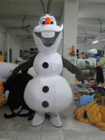 Hot Sale Smiling Frozen Olaf Mascot Costume Fancy Party Dress Suit Free Shipping